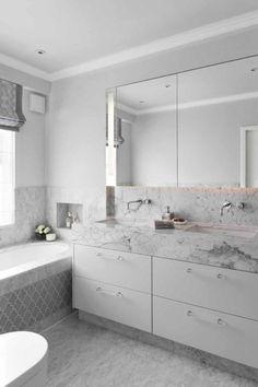 bathroom design fini - January 19 2019 at Wc Bathroom, Bathroom Plans, Guest Bathrooms, Ensuite Bathrooms, Laundry In Bathroom, White Bathroom, Bathroom Renovations, Marble Bathrooms, Bathroom Design Inspiration