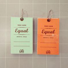 【メモ】単語カード¥350/5mm方眼のカードです。100枚綴り。