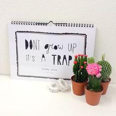 Good vibes verjaardagkalender | Vergeet nooit meer een verjaardag! - incusief extra poster - Foto @stustationery