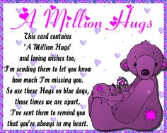 Free online A Million Hugs ecards on Cute Cards Feeling Happy, How Are You Feeling, Sending You A Hug, Hug Quotes, I Love You Pictures, Buddy Love, Love Hug, Minions Quotes, Big Hugs