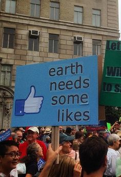 Earth needs some #likes! #facebook #Climatemarch #PeoplesClimate