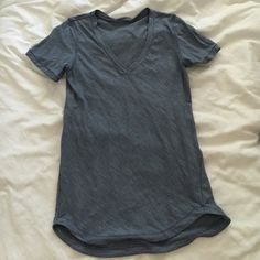 Lululemon fitted tee. Size 2. Very good condition. Size 2 blue short sleeve t shirt. Super soft! lululemon athletica Tops Tees - Short Sleeve