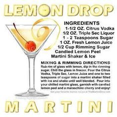 Lemon Drop Martini from 50 Shades of Grey