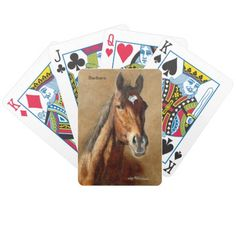 Barbaro - Thoroughbred Horse Art Playing Card Deck by Lee Mitchelson on zazzle