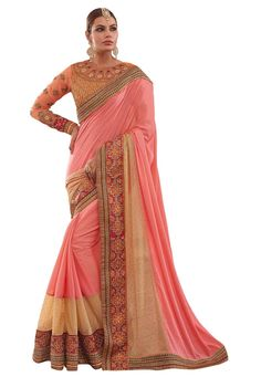 #Dusty #Pink #Georgette #Saree With #Blouse  #Dusty #Pink #Georgette #Saree #designed with #Heavy Zari,#Resham Embroidery With #Stone #Work And #Lace Border.  INR :4,822.00  With Exclusive Discounts   Grab: http://tinyurl.com/z6bznav
