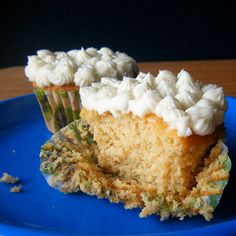 healthy yellow cake with sugar-free buttercream by healthyindulgencesblog, via flickr
