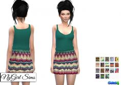 Boho Prints Dress at NyGirl Sims via Sims 4 Updates My Sims, Sims Cc, Sims 4 Clothing, Female Clothing, Maxis, Sims 4 Dresses, Sims 4 Game, Sims 4 Update, Sims 4 Custom Content