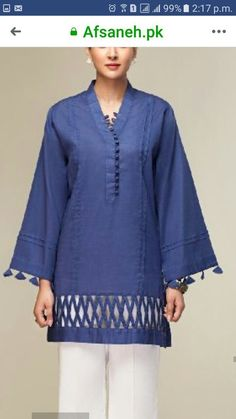 Women S Fashion Boutique Cheap Key: 4871789803 Pakistani Fashion Casual, Pakistani Dresses Casual, Pakistani Dress Design, Casual Dresses, Kurti Sleeves Design, Kurta Neck Design, Sleeves Designs For Dresses, Kurta Designs Women, Salwar Designs