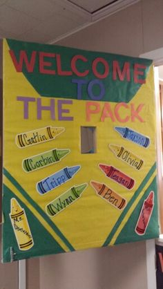 Crayon theme classroom door                                                                                                                                                      More