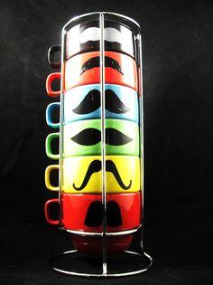 Mustache mugs!