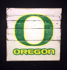 Oregon Ducks Sign / University of Oregon Wall by PalletsandPaint