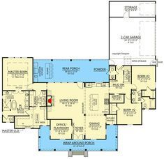 Plan 56453SM: Attractive Modern Farmhouse Plan Bonus And Bath Over Garage