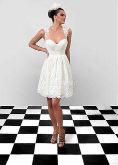 Robe de mariée tulle avec manche naturel chic courte - photo 4