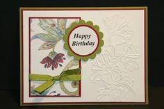 My Creative Corner!: Flower Garden Embossing Folder Birthday Card
