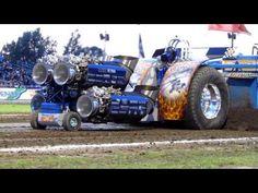 1950 Oliver Detroit Diesel Tractor pull El Toro Full Pull - YouTube