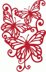 Silhouette Design Store - View Design #69038: monarch flourish