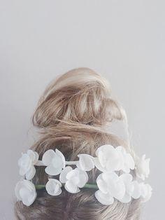 She wore SEASHELL flowers in her hair