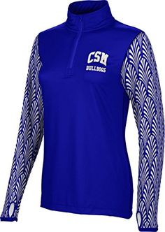 Womens College of San Mateo Community College Deco Half Zip Long Sleeve >>> Visit the affiliate link Amazon.com on image for more details.