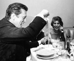 Kirk Douglas, & Sophia Loren, everyone loves spaghetti......