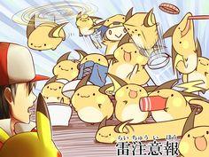 Tags: Anime, Fanart, Pokémon, Pixiv, Raichu