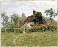 Old Cottages at Pinner by Helen Allingham