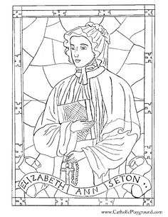 Saint Elizabeth Ann Seton coloring page for Catholic children to color. Feast day is January Make your world more colorful with free printable coloring pages from italks. Our free coloring pages for adults and kids. Teaching Religion, Catholic Religion, Catholic Saints, Patron Saints, Catholic Kids, Catholic School, Roman Catholic, Coloring Book Pages, Coloring Sheets