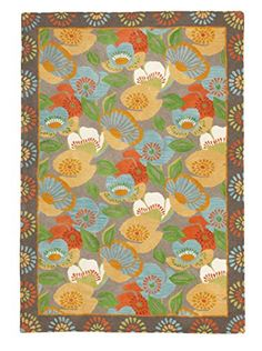 Company C Poppies Rug (Driftwood)