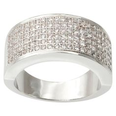 1 1/4 CT. T.W. Journee Collection Round Cut CZ Pave Set Fashion Ring in Brass - Silver
