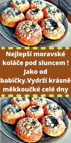 Czech Recipes, Ethnic Recipes, Cas, Mini Cheesecakes, Sweet Life, Salmon Burgers, Nutella, Donuts, Deserts