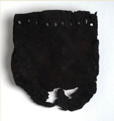 Leather pouch. Image National Museum of Scotland. Remains of a leather purse found at the site of the early Christian monastery on the Ireland of Iona in Argyll. It was used some time between 550 and 750AD. Now in the National Museum of Scotland.