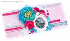 Tanya Flower:  Подарочный конверт Morning Star - Pink. Galeria Papiery