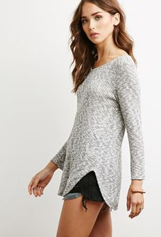 Marled Rib Knit Sweater | Forever 21 - 2000141555