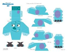 left Leg right leg Sulley and Boo Papercraft Insira esta aba . - Read more about tabs, panel, dashed, sulley, papercraft and outer. Monster University Birthday, Monster Inc Birthday, Monster Inc Party, Character Activities, Kid Character, Cardboard Toys, Paper Toys, 3d Paper, Sully Monsters Inc