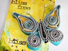 Maya Road, embellishment, zipper trim butterly, papercrafting