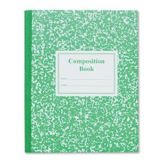 Grade School Ruled Composition Book, 9-3/4 X 7-3/4, Green Cover, 50 Pages