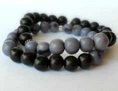 Acai Seed Bracelet Set in Lavender and by theblackstarboutique, $25.00