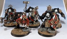 40k - Black Templars Terminator Squad by Wickedcarrot