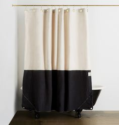 A beautiful, minimally-designed shower curtain, made from 100% organic cotton canvas. If there's a single product that can completely transform the look of your bathroom, this is it. Made in NYC from 100% GOTS certified organic cotton canvas, this shower curtain features a geometric design inspired by Americana quilting. Constructed with cotton-bound seams on the …
