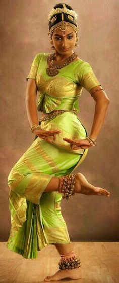 South Indian dancer with hastha mudras