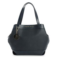 This shopper-style Armani Jeans carry-all features gold metal accents and quality attention to detail. This beautiful designer bag is so classic and versatile that it will pair perfectly with any ensemble. with Excel Clothing! Armani Logo, Armani Women, Metal Accents, Gold Letters, Armani Jeans, Pairs, Mens Fashion, Detail, Navy