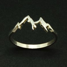 Sterling Silver Mountain Range Ring ~ $42 ~ Outdoorsy Gifts! http://amzn.to/2fj6ngG