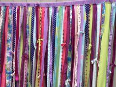 Shower Curtain Boho Hippie Bold Whimsical Rod Pocket Rag Tattered - Teen Room, Window Treatments on Etsy, $129.00