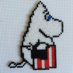 Moomin hama mini beads by chorsmark Perler Bead Templates, Diy Perler Beads, Pixel Beads, Fuse Beads, Tapestry Crochet Patterns, Hama Beads Design, Iron Beads, Melting Beads, Beaded Cross Stitch