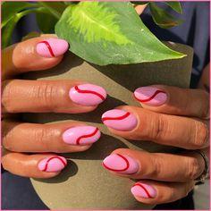 Nagellack Design, Nagellack Trends, Minimalist Nails, Nail Swag, Line Nail Art, Mauve Nails, Pastel Nails, Purple Nails, Lines On Nails