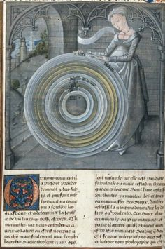 British Library, Royal 14 D I, detail of f. 337v (Philosophy). Augustine, De civitate dei (in French translation by Raoul de Presles). Bruges (?), last quarter of the 15th century.