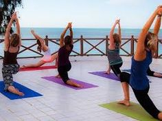 Image result for yoga terras buiten rust