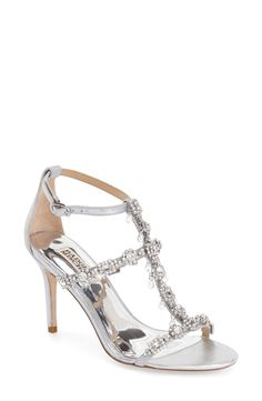 Badgley Mischka 'Evening II' Crystal Embellished Sandal (Women) available at #Nordstrom
