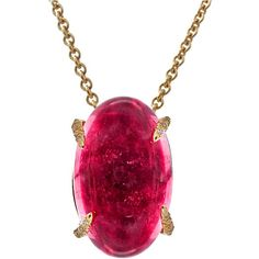 HENRY DUNAY Rubellite Tourmaline Diamond Yellow Gold Pendant ❤ liked on Polyvore featuring jewelry, necklaces, accessories, pink tourmaline pendant, pink tourmaline jewelry, diamond pendant, diamond jewelry and yellow gold pendant