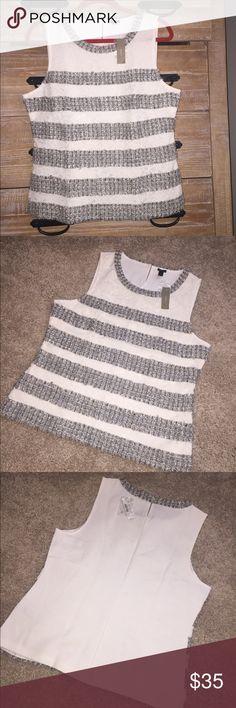 ❤️ NWT Beautiful J. Crew top ❤️ Gorgeous top, perfect fit, nice fabrics, size L J. Crew Tops Tank Tops