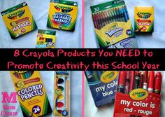 8 Crayola Products You NEED to Promote Creativity this School Year!